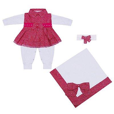 Saída Maternidade Nina Pink 4 Peças