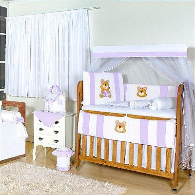 Quarto De Bebê Sem Cama Babá Amiga Ursa Lilás