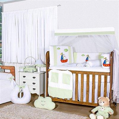 Quarto De Bebê Sem Cama Babá Barquinho Verde