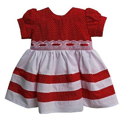 Vestido Baby Poá