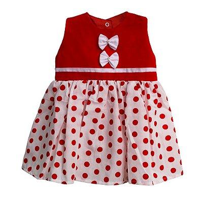 Vestido Bolinha Vermelho