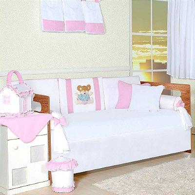 Kit Cama Babá Bebê Rosa