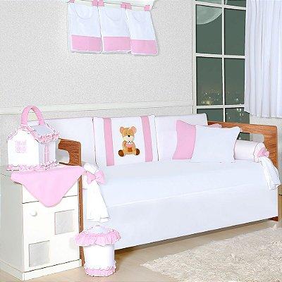 Kit Cama Babá Ursa Cupcake Rosa