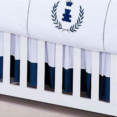 Saia De Berço Realeza Azul Marinho