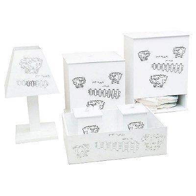Kit Higiene Ovelhinha Mdf