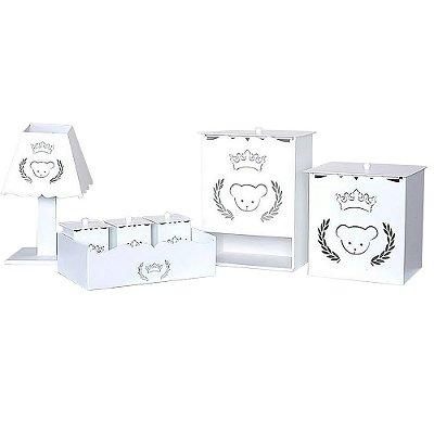 Kit Higiene Urso Coroa Mdf