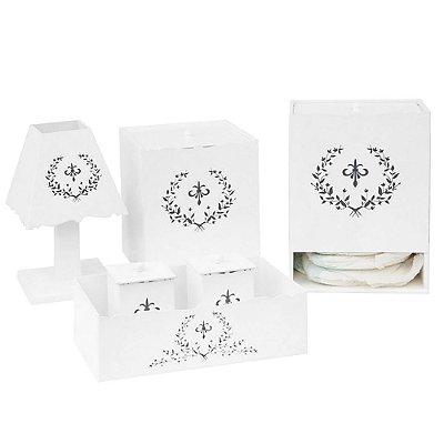 Kit Higiene Versailles Marinho Mdf
