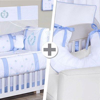 Combo Confort Com a Inicial do Bebê Azul Bebê