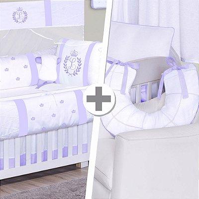 Combo Confort  Com a Inicial do Bebê Lilás