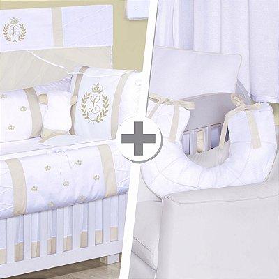 Combo Confort  Com a Inicial do Bebê Palha