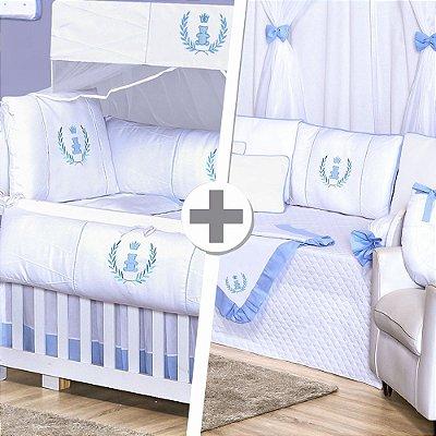 Combo Duo Realeza Azul Bebê