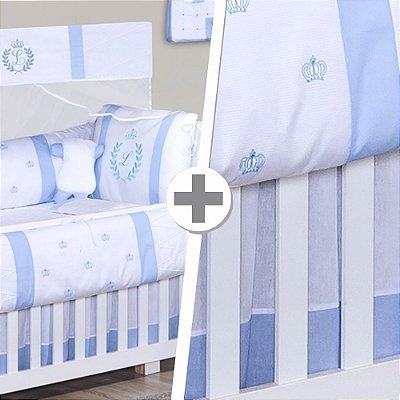 Combo Essencial com a Inicial do Bebê Azul Bebê