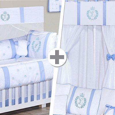 Combo Prime  Com a Inicial do Bebê Azul Bebê