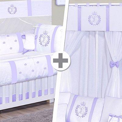 Combo Prime Com a Inicial do Bebê Lilás