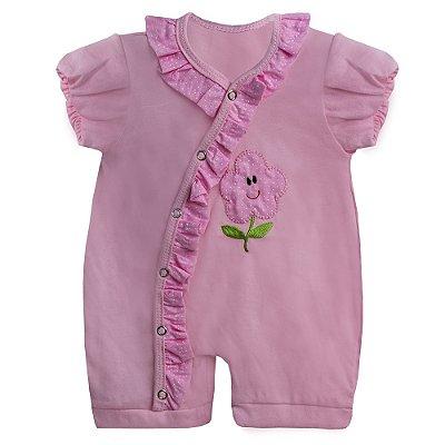 Macacão Para Bebê Florzinha