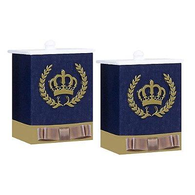 Conjunto De Potes Coroa Luxo Mdf