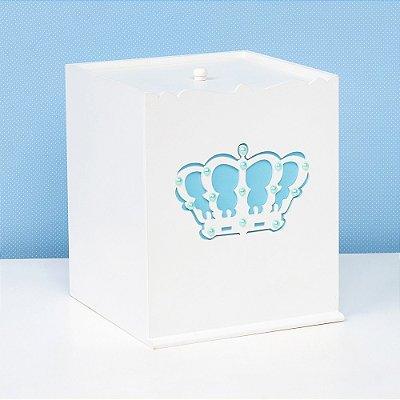 Lixeira Belly Coroa Azul MDF