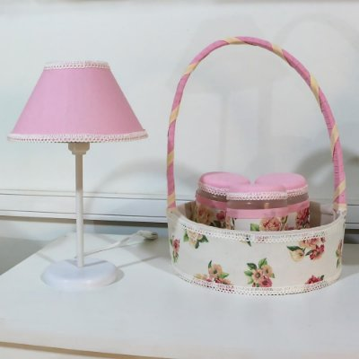 Kit Acessórios Floral Luxo 5 Peças