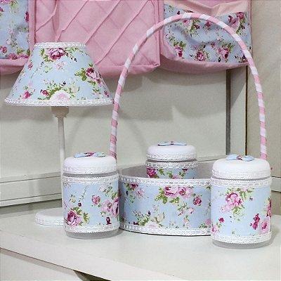 Kit Acessórios Jardim Rosa 5 Peças