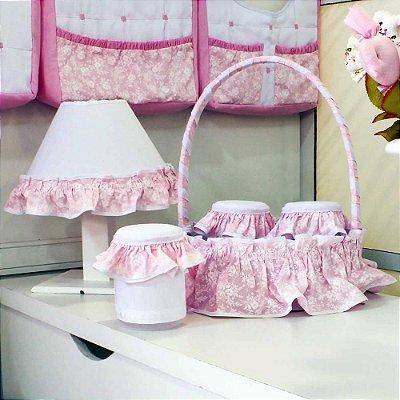 Kit Acessórios 5 Peças Princesinha Rosa