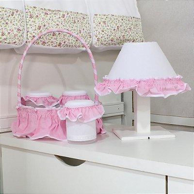 Kit Acessórios 5 Peças Rainha Rosa Floral