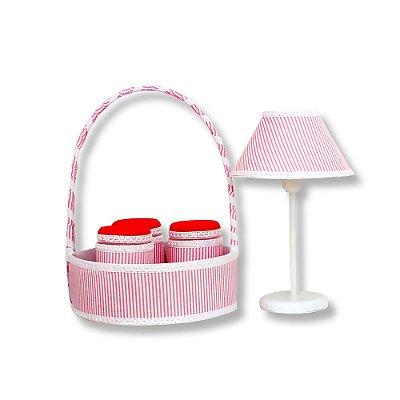 Kit Acessórios Clássico Rosa 5 Peças