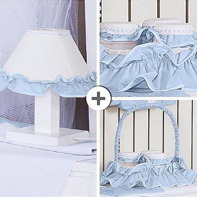 Kit Acessórios Realeza Azul Bebê 5 Peças