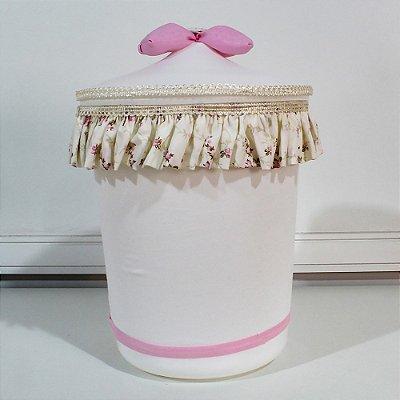 Lixeira Alicia Floral Luxo