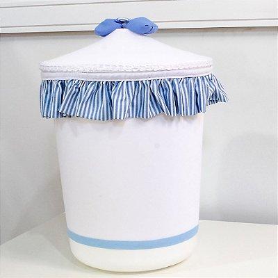 Lixeira Clássico Azul Bebê