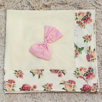 Manta Enxoval Piquet Floral Luxo