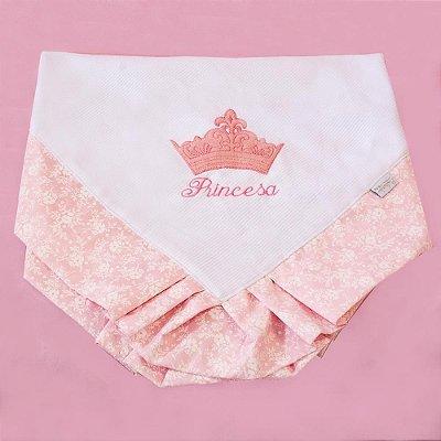 Manta Enxoval Piquet Princesinha Rosa