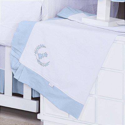 Manta Enxoval Piquet Realeza Azul Bebê