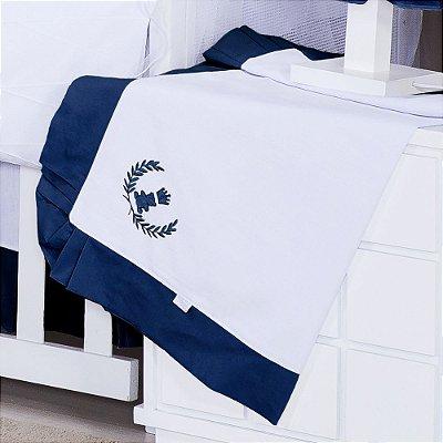 Manta Enxoval Piquet Realeza Azul Marinho