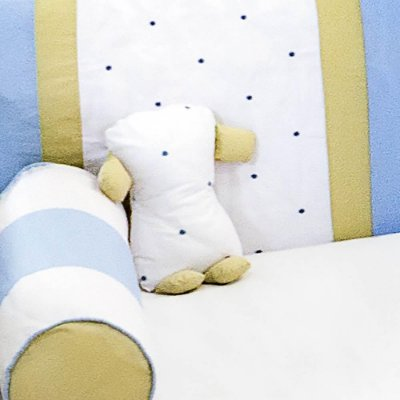Travesseiro Soninho Coroa Luxo Azul Bebê