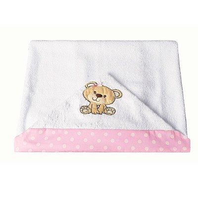 Toalha de Banho Com Capuz Ursa Carinho