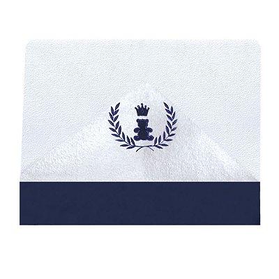 Toalha De Banho Com Capuz  Realeza Azul Marinho