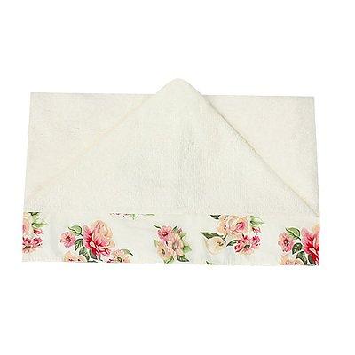 Toalha de Banho Com Capuz Floral Luxo Rosa