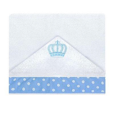 Toalha De Banho Com Capuz Rei Azul 2 Peças