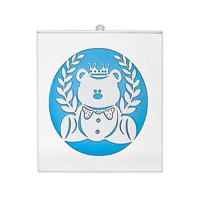 Lixeira Urso Rei Azul Bebê Mdf