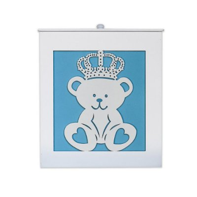 Lixeira Majestade Azul Bebê Mdf