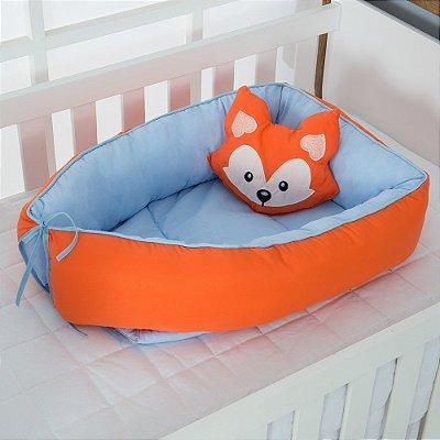 Ninho Redutor de Berço Raposinha Azul Bebê 2 Peças