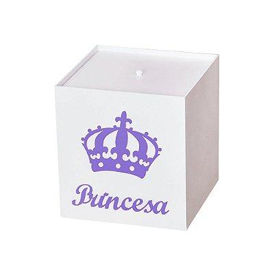 Lixeira Imperial Princesa Lilás Mdf