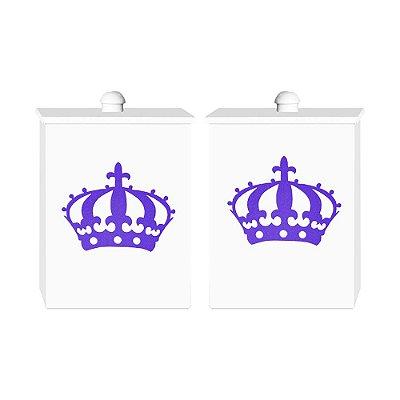 Conjunto De Potes Imperial Princesa Lilás Mdf
