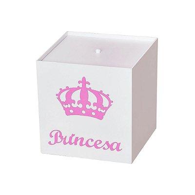 Lixeira Imperial Princesa Rosa Mdf