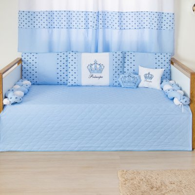 Kit Cama Babá Trança Imperial Príncipe Azul Bebê