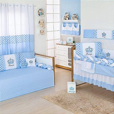 Quarto sem Cama Babá Trança Imperial Príncipe Azul Bebê