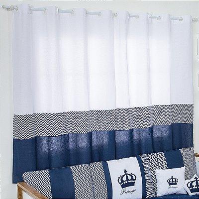 Cortina Imperial Príncipe Azul Marinho