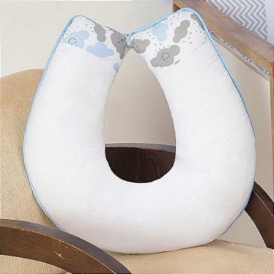 Almofada Amamentação Nuvem Azul Bebê