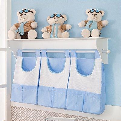 Porta Fraldas de Parede Nuvem Azul Bebê