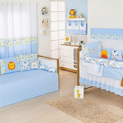 Quarto sem Cama Babá Trança Savana Azul Bebê